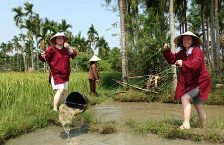Rice farm tour, Hoi An, Cam Thanh Village
