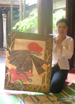 Vietnamese artist exhibits paintings in Canada