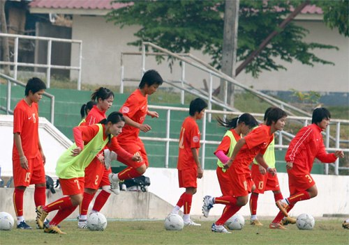 The women's national football team.