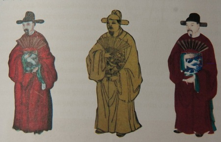 An Nam mandarins in plainclothes in 1751.