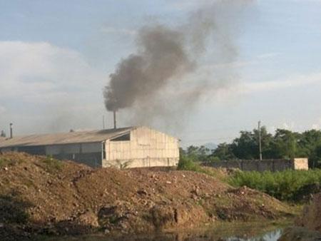 Pollution, porcelain factory, Phu Tho Town, Thanh Ha Porcelain JSC, farm land