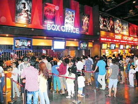 Cinema multiplex in suburban district draws crowds