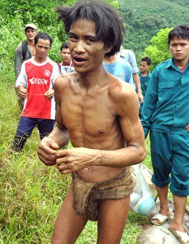 Wild men, forest man, rescue, quang ngai