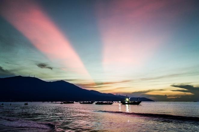 Dawn on the sea