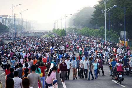 HCM City, Tan Tao Industrial Park, firefighters, textile factory blaze