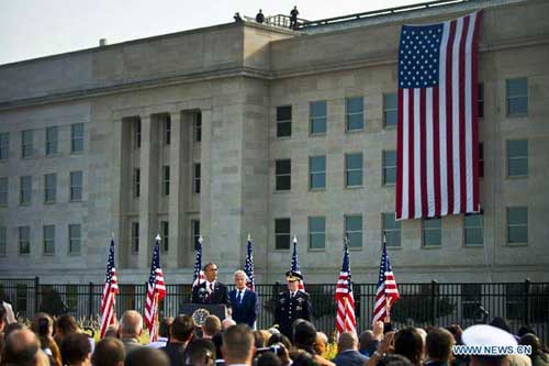 U.S. marks 12th anniversary of Sept. 11 terrorist attacks