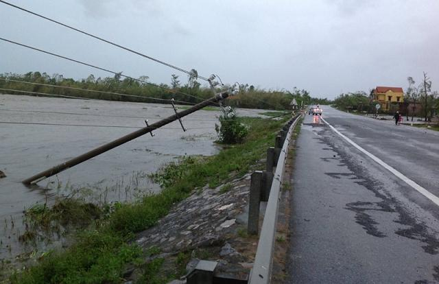 wutip, storm, central vietnam