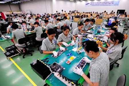 Samsung, Thai Nguyen, electronics production