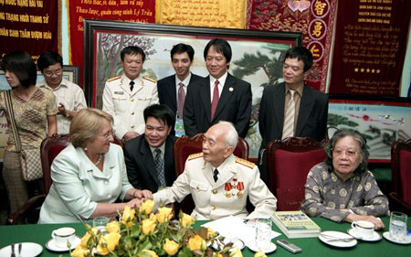 Legendary General Vo Nguyen Giap, foreign friends, Dien Bien Phu