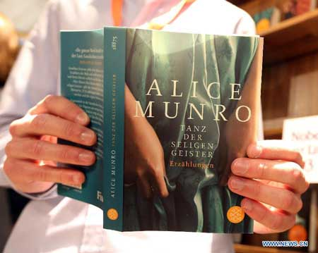 Canadian author Alice Munro wins Nobel Prize for Literature