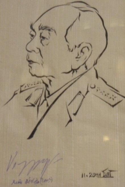 vo nguyen giap, sketch, portraits