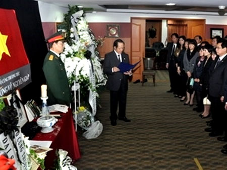 Int'l media spotlight General Giap's funeral
