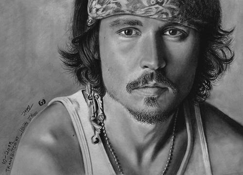 Pencil sketch portraits amateur painters artists