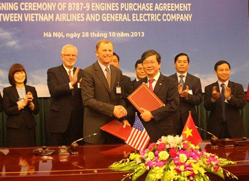 vietnam airlines, ge, contract, jet engine, boeing dreamliner