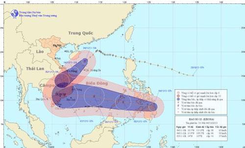 Storm 'Krosa', weakens, East Sea