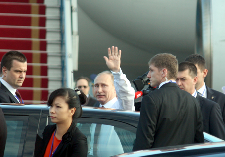 The first pictures of Russian President Putin in Vietnam