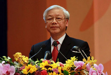Party Chief Nguyen Phu Trong leaves for India