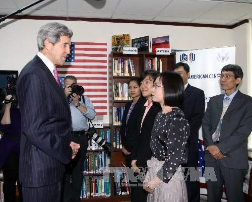 Vietnam-US relations, US State Secretary, John Kerry, HCM City, Ca Mau