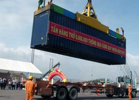 Quy Nhon Port, Vietnamese firms, export and import values