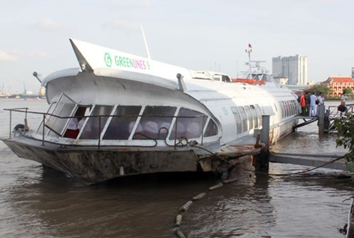 hydrofoil, hcm city-vung tay, waterway, accidents