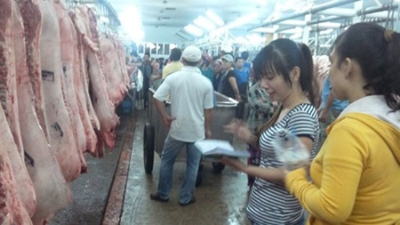 Ho Chi Minh City's biggest pork wholesale market