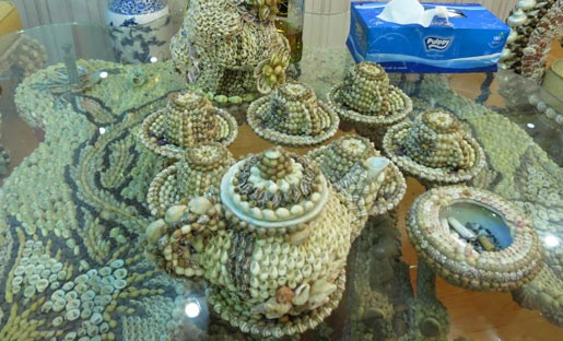 In pictures: Unique furniture encrusted with shells in Soc Trang
