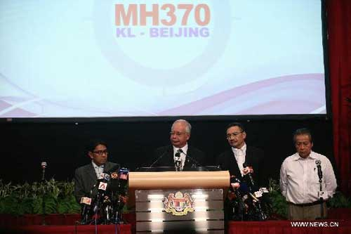Malaysian PM says missing jetliner crashes in Indian Ocean as search intensified