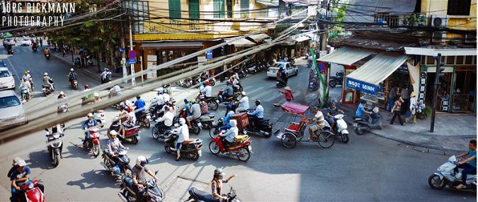 Hanoi traffic,  Jork Digmann, foreign photographer