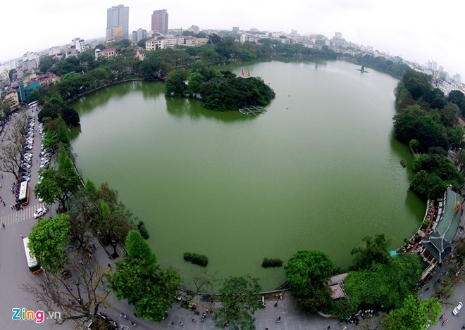 Hanoi's lakes from flying cameras