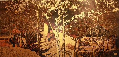 lacquer, son ta, vietnamese paint, exhibition, vietnam fine-art museum