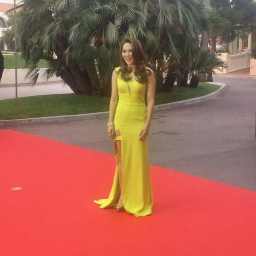Pop-star My Tam at the World Music Awards in Monaco