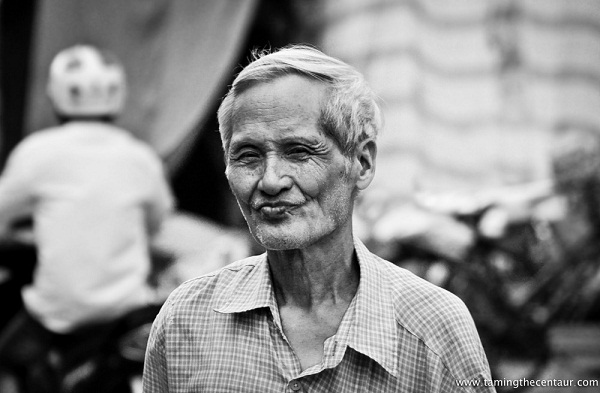 Beautiful black and white portraits of Vietnamese