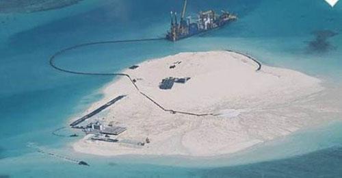 East Sea, China, violating international law, reef, Gac Ma