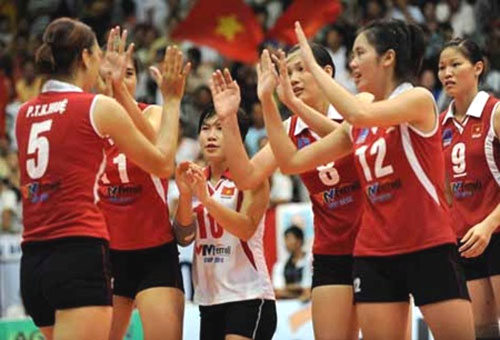 Bangkok Glass Club, Thai National League, Vietnamese female volleyball players