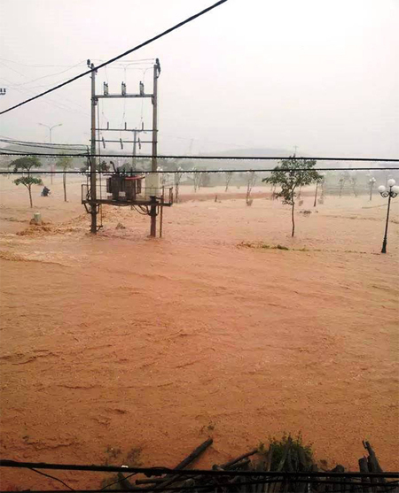 Quang Ninh's town immersed because of dam break