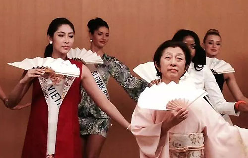 Vietnamese representative takes active part in Miss International pageant