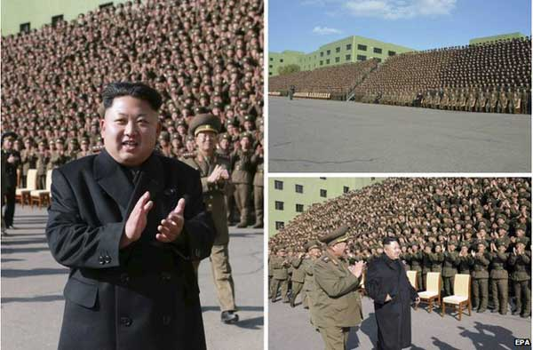 North Korea leader Kim Jong-un walking without stick