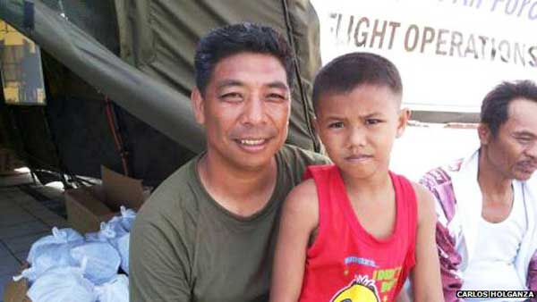 Typhoon Haiyan: The man and the boy who saved each other