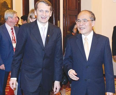 Vietnamese leaders meet Russian State Duma Chairman