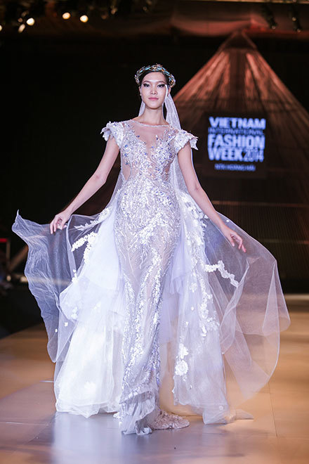 Hoang Hai, Thuy Dung, Vietnam international fashion week 2014