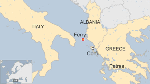 Italy ferry fire: Scores awaiting rescue