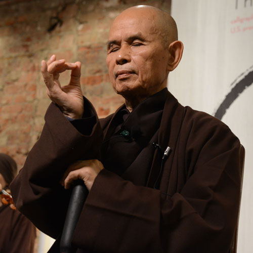 the world we have by thich nhat hanh We need only to be awake, alive in the present moment – thich nhat hanh if we  are not fully ourselves, truly in the present moment, we miss everything.