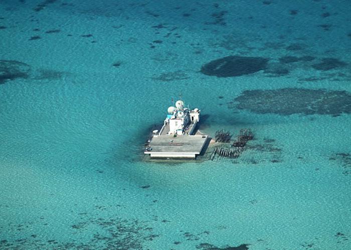 East Sea, China, artificial islands