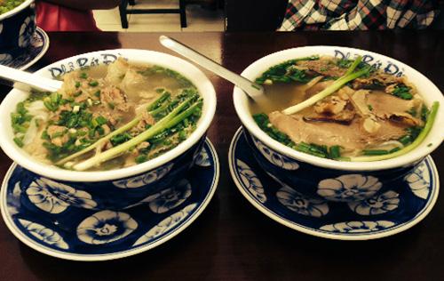 Pho, Vietnamese noodle, bun rieu cua, crab soup with vermicelli, bun cha, grilled pork & noodle