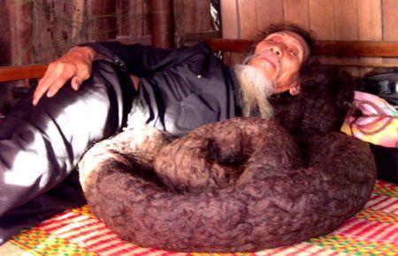 Tran Van Hay World Longest Hair