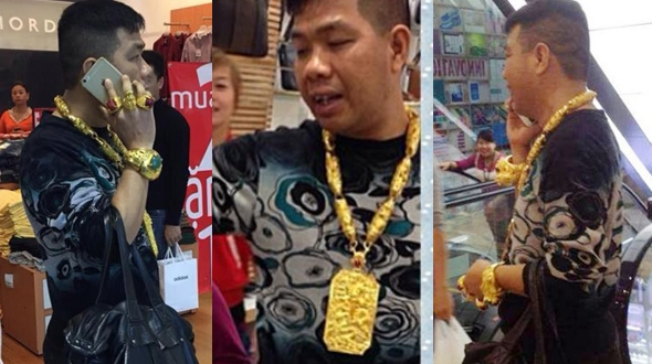 Man Wearing a Lot of Gold