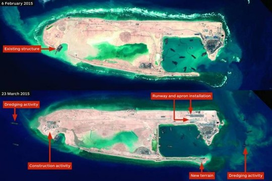 Review of China's illegal renovation of reefs in the East Sea