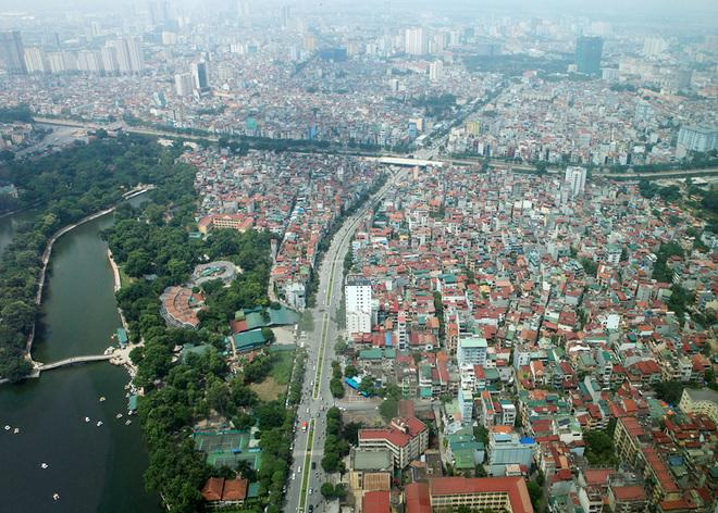 Hanoi's green areas viewed from flycams