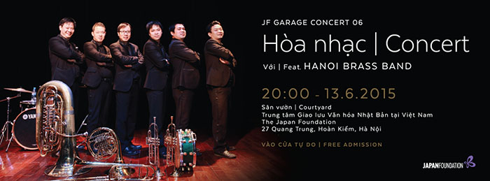 Free concert in Hanoi this Saturday, JF Garage Concert, J-Music for Brass Band