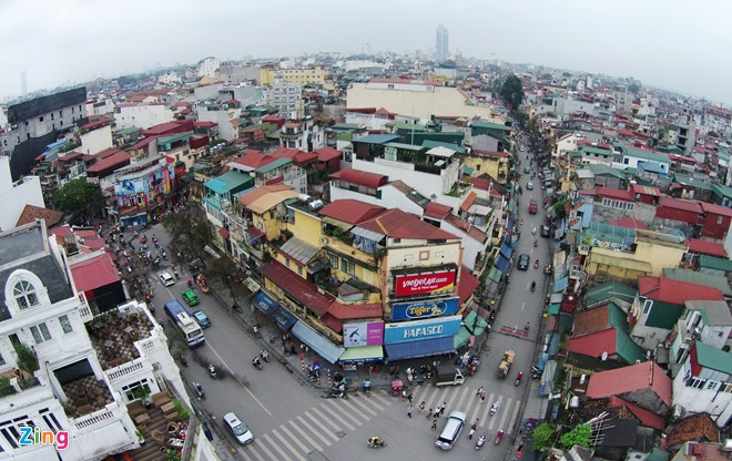 Hanoi viewed from aerial cameras
